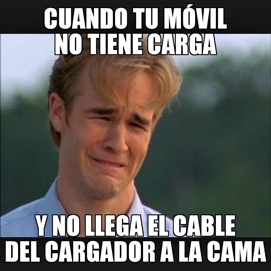 cable cargador movil meme