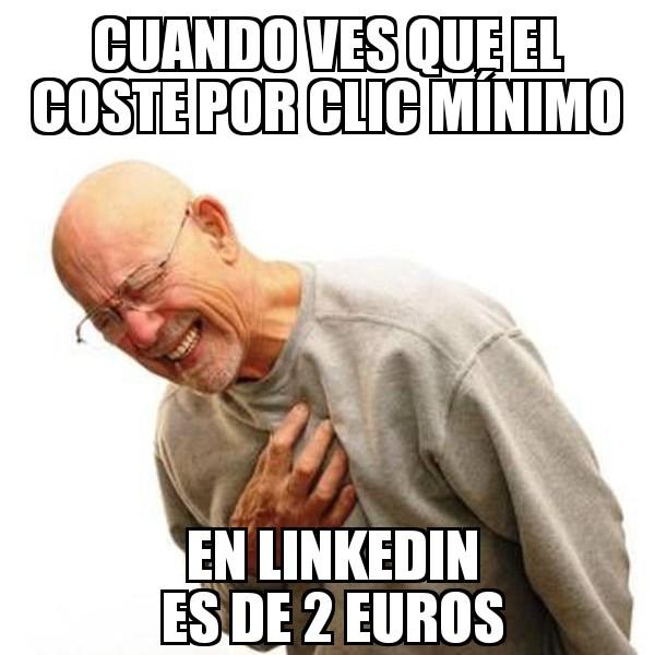 linkedin coste por clic