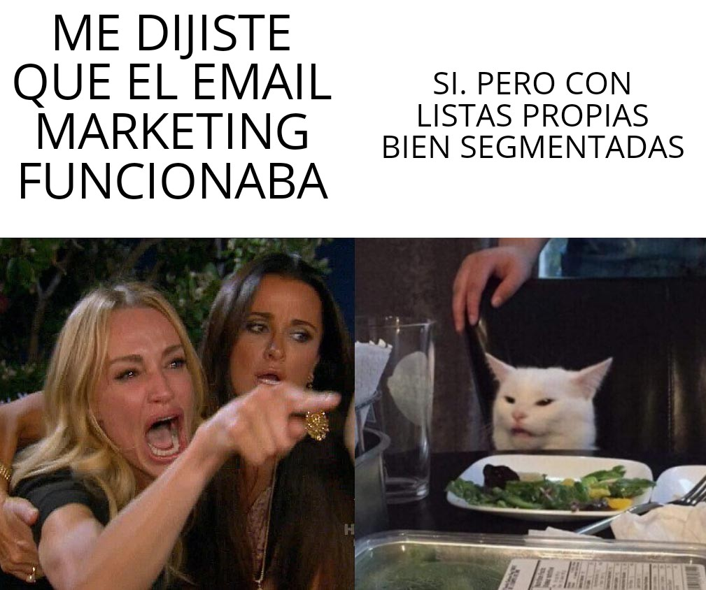meme listas email marketing