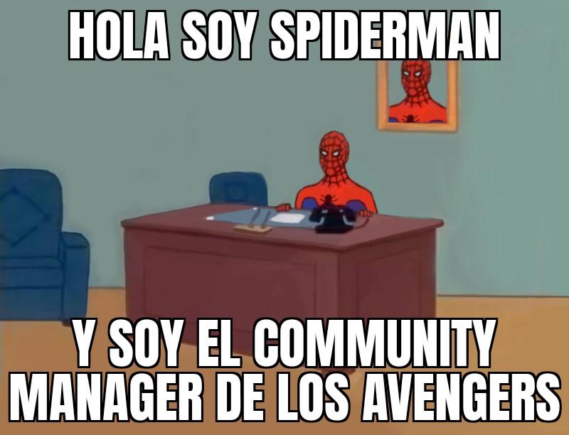 meme community manager de los avengers