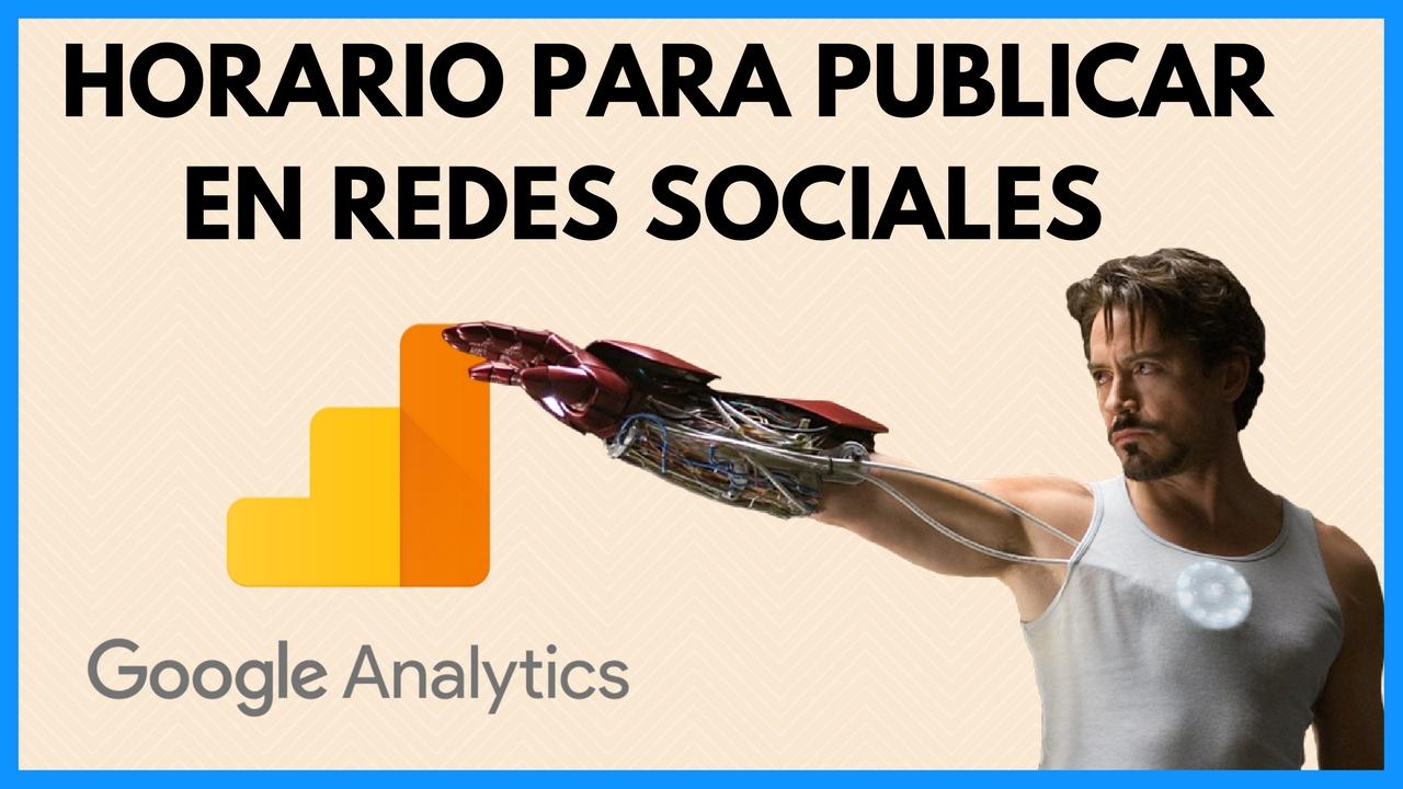 Horario Redes Sociales con Google Analytics