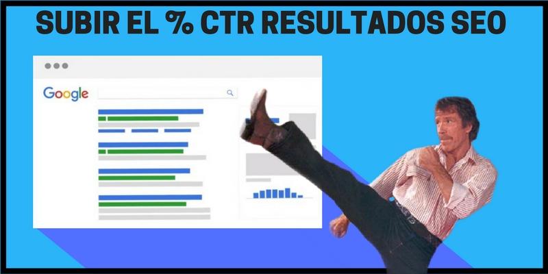 Mejorar el CTR resultados SEO Google