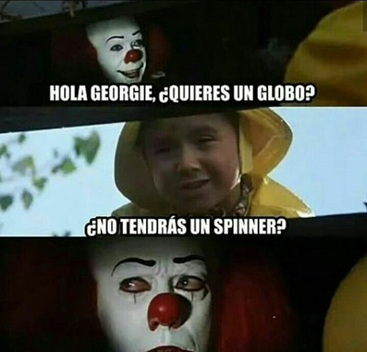 Meme Payaso It spinner
