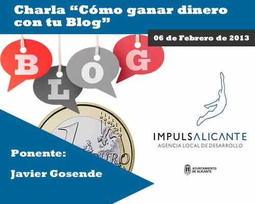 Charla «Cómo ganar dinero con tu Blog» en Alicante