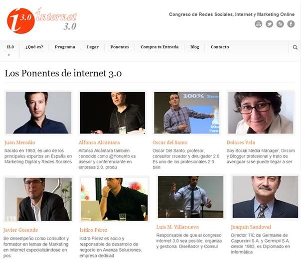 2a edición del Congreso Internet 3.0 en Alicante