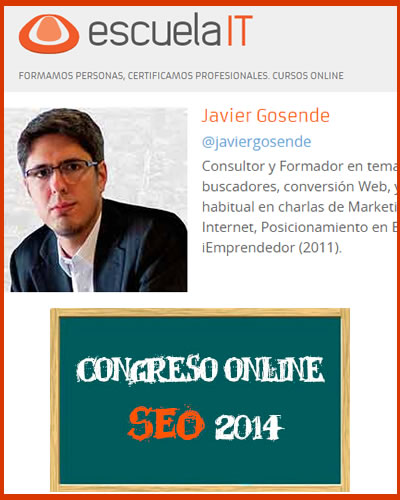 Congreso SEO Online de Escuela IT