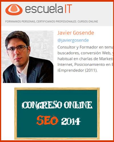Congreso SEO Online de Escuela IT