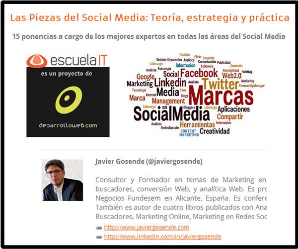 Curso Online «Las Piezas del Social Media: teoría, estrategia y práctica»