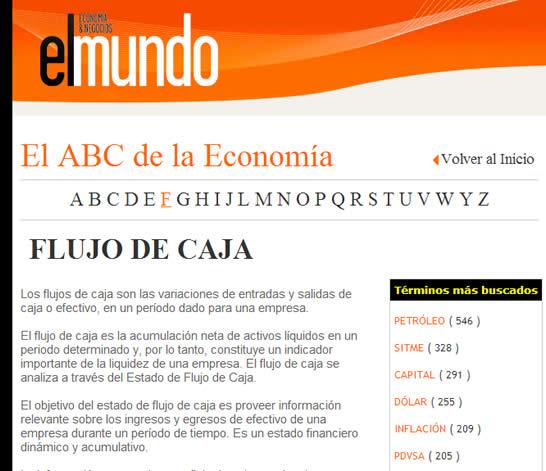 Consultoría Web Diccionario Económico El Mundo Venezuela