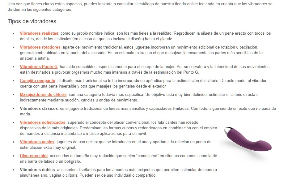 enlazado interno seo categorias ecommerce