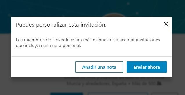 enviar una nota contacto linkedin