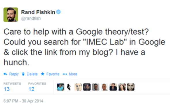 experimento ctr google seo