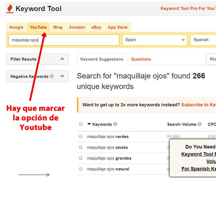 keyword io tool para youtube