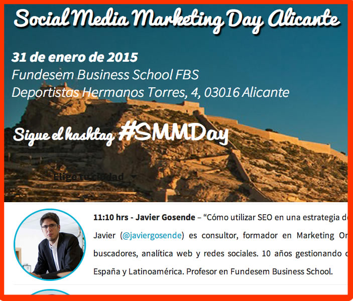 Ponente en el Social Marketing Media Day Alicante 2015