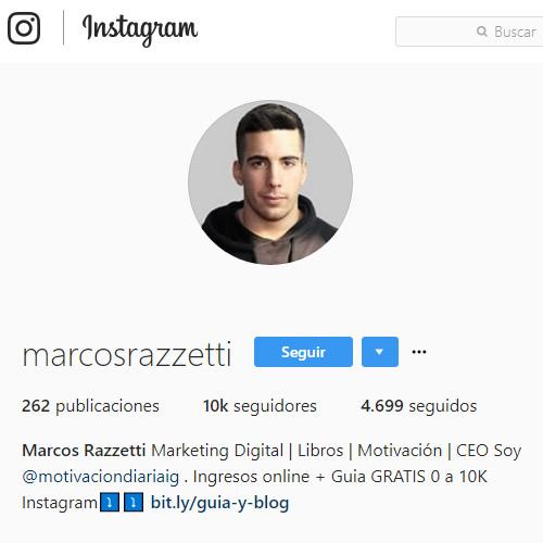 redaccion biografia instagram para conseguir seguidores