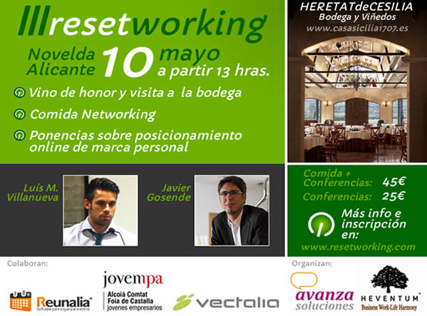 Charla Posicionamiento Web de la Marca Personal en el Reset Working Alicante