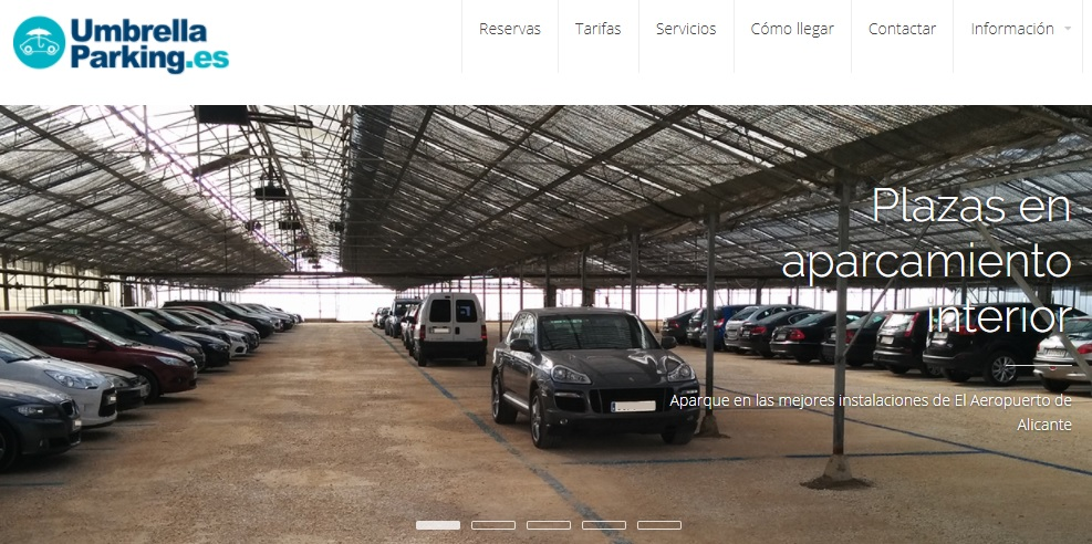 web de umbrella parking alicante